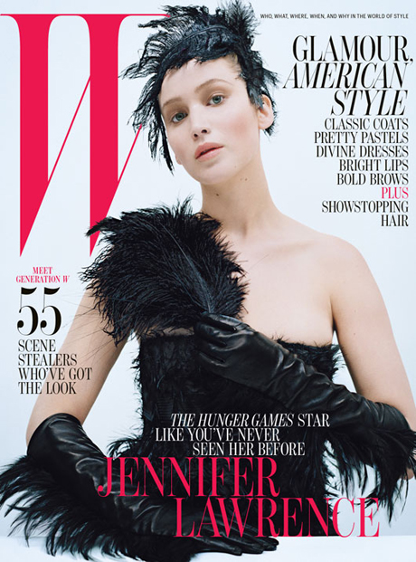 Jennifer Lawrence W magazine October 2012