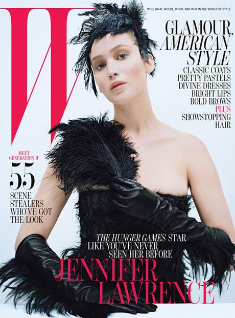 Jennifer Lawrence W magazine October 2012