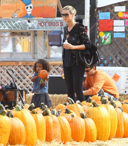 heidi klum kids pumpkin patch los angeles