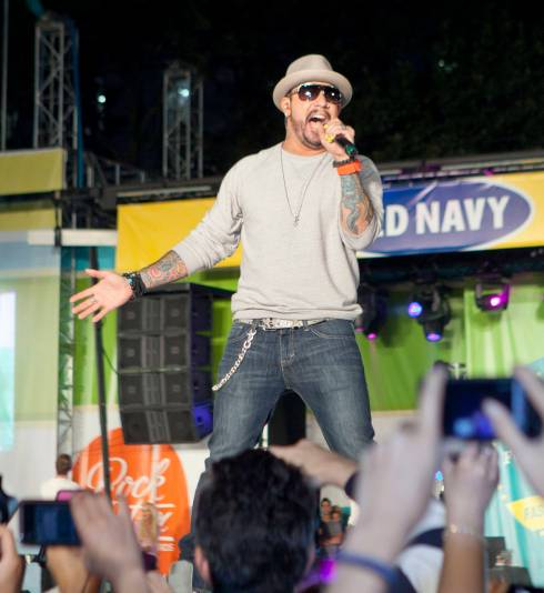 Backstreet Boys Belt Out Classic for Old Navy's Rockstar Fashion Show