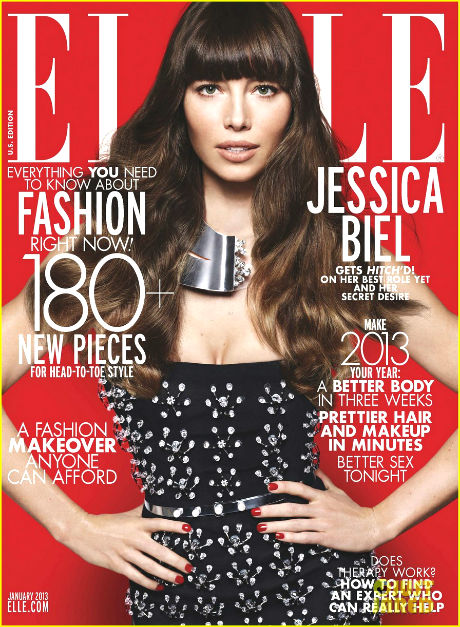 jessica biel covers elle january 20131