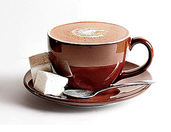Ginger hot chocolate from Gingersnap Sweets & Such