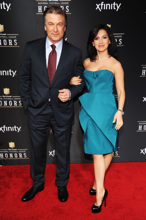 Alec Baldwin Hilaria Thomas NFL Honors