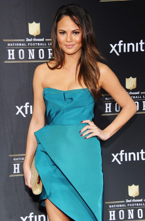 Chrissy Teigen NFL Honors red carpet