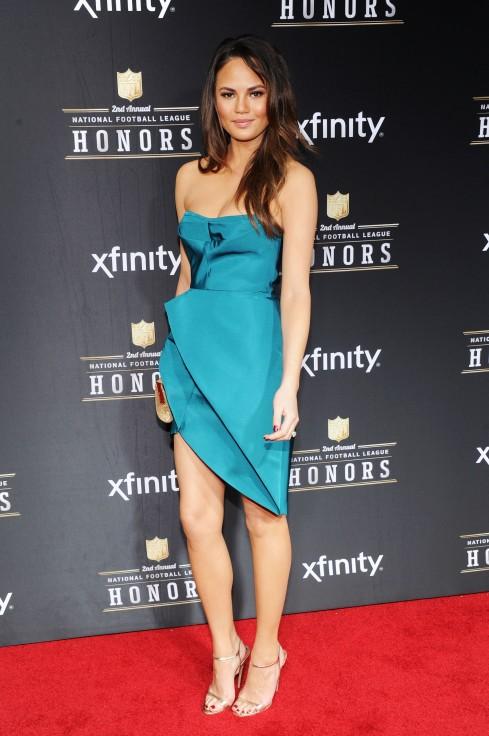 Chrissy Teigen NFL Honors red carpet
