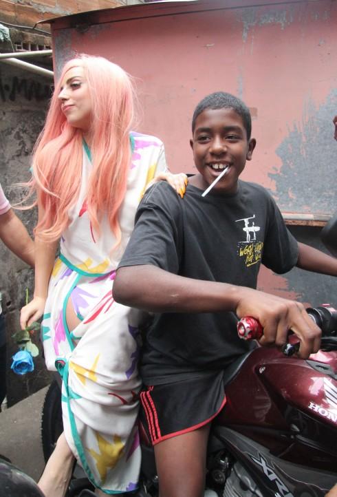 Lady Gaga Rocks Pink Hair in Brazil
