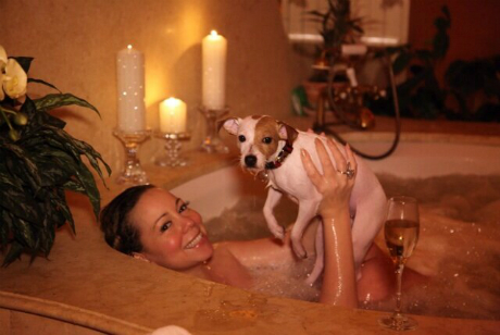mariah carey vday bathtub1