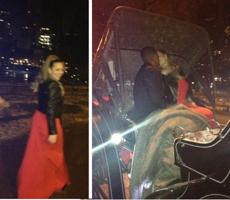 mariah carey vday nick cannon carriage ride